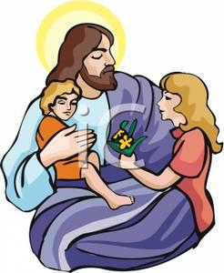 jesus-children-clip-art-Jesus Christ Blessing a Child Royalty Free    Jesus With Children Clip Art