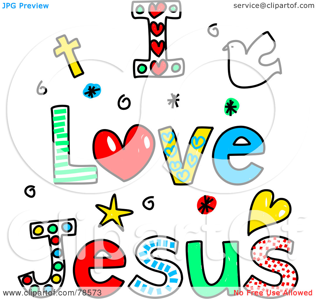 Royalty-Free  RF  ClipartJesus With Children Clip Art