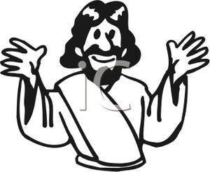 Jesus Clip Art Black And White