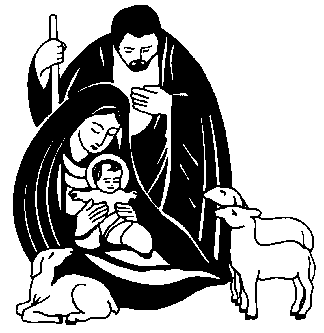 Jesus clip art black and white clipart panda free for Free online drawing
