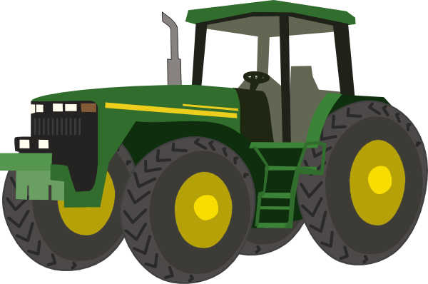 Green Tractor Clip Art : John deere green tractor clipart panda free