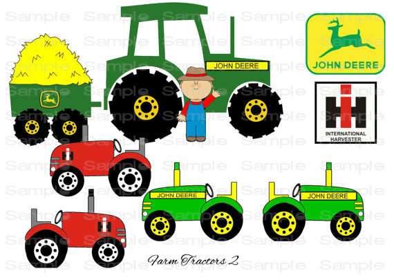 Tractor Cartoon Picker : Green tractor clipart panda free images