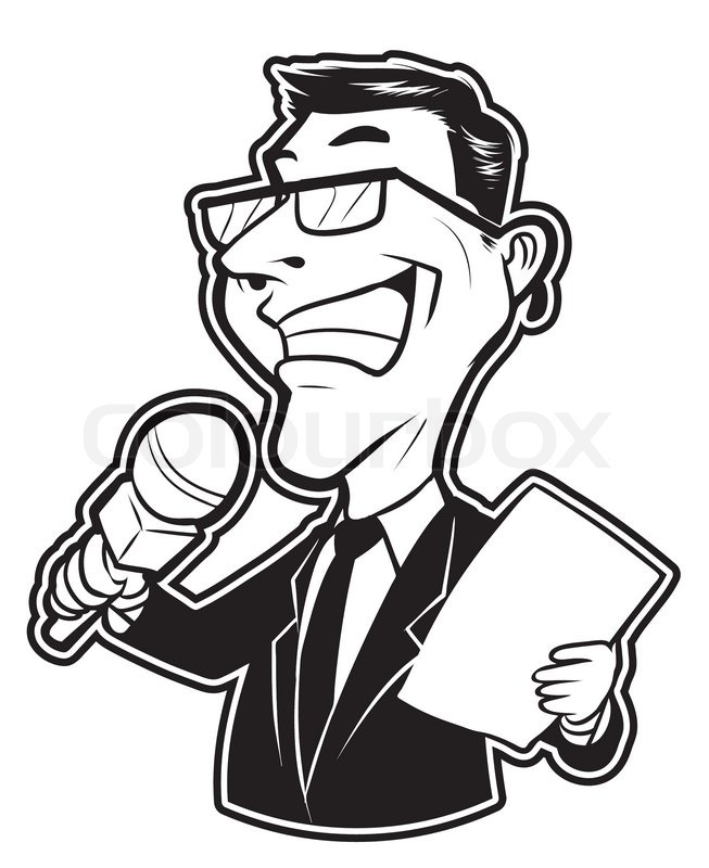 Line Drawing Newspaper : Journalist clipart panda free images