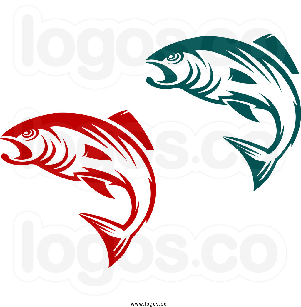 jumping-bass-fish-clip-art-royalty-free-clip-art-vector-logos-of-teal ...