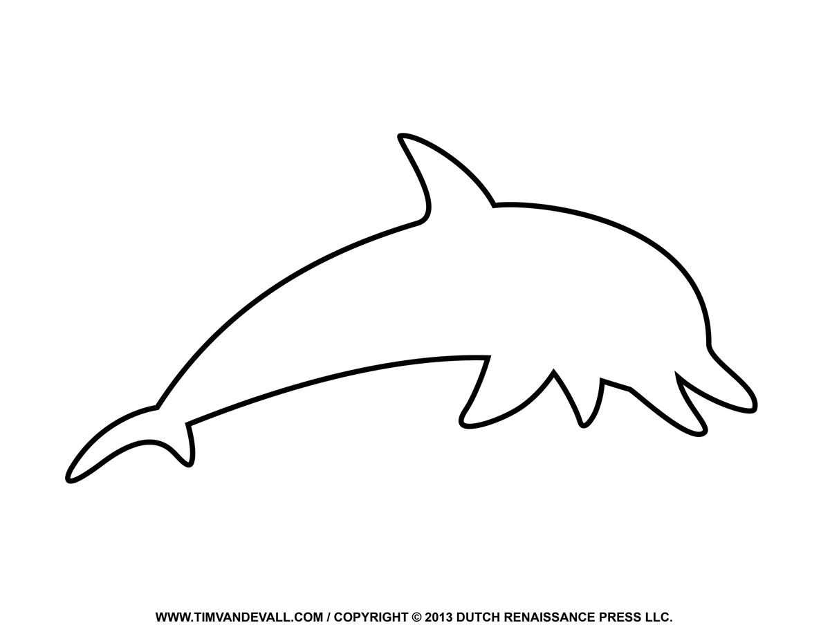 Clipart Animal Simple Line Drawing : Dolphin outline clip art clipart panda free images