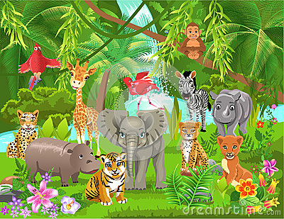 jungle clip art animals clipart panda free clipart images rh clipartpanda com free jungle clipart images free clipart jungle trees