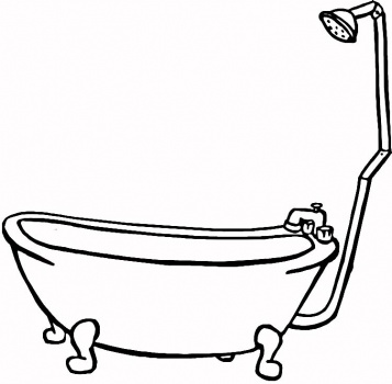 coloring pages bathtubs - photo#6