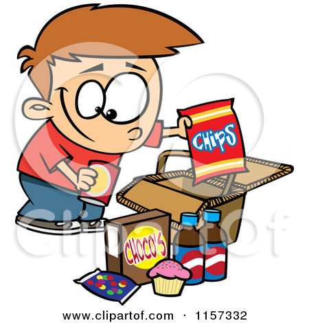 Eating Junk Foods Drawing Junk Clipart