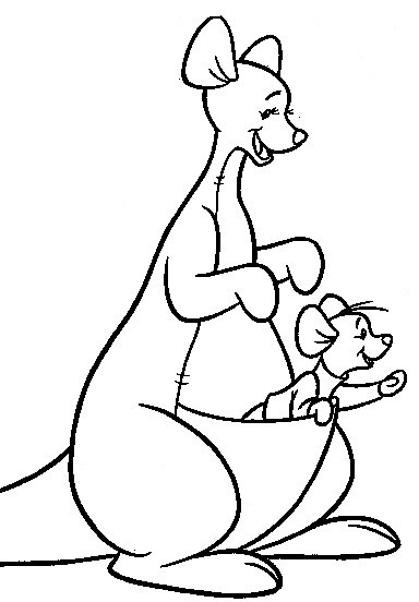 Kanga And Roo Coloring Pages
