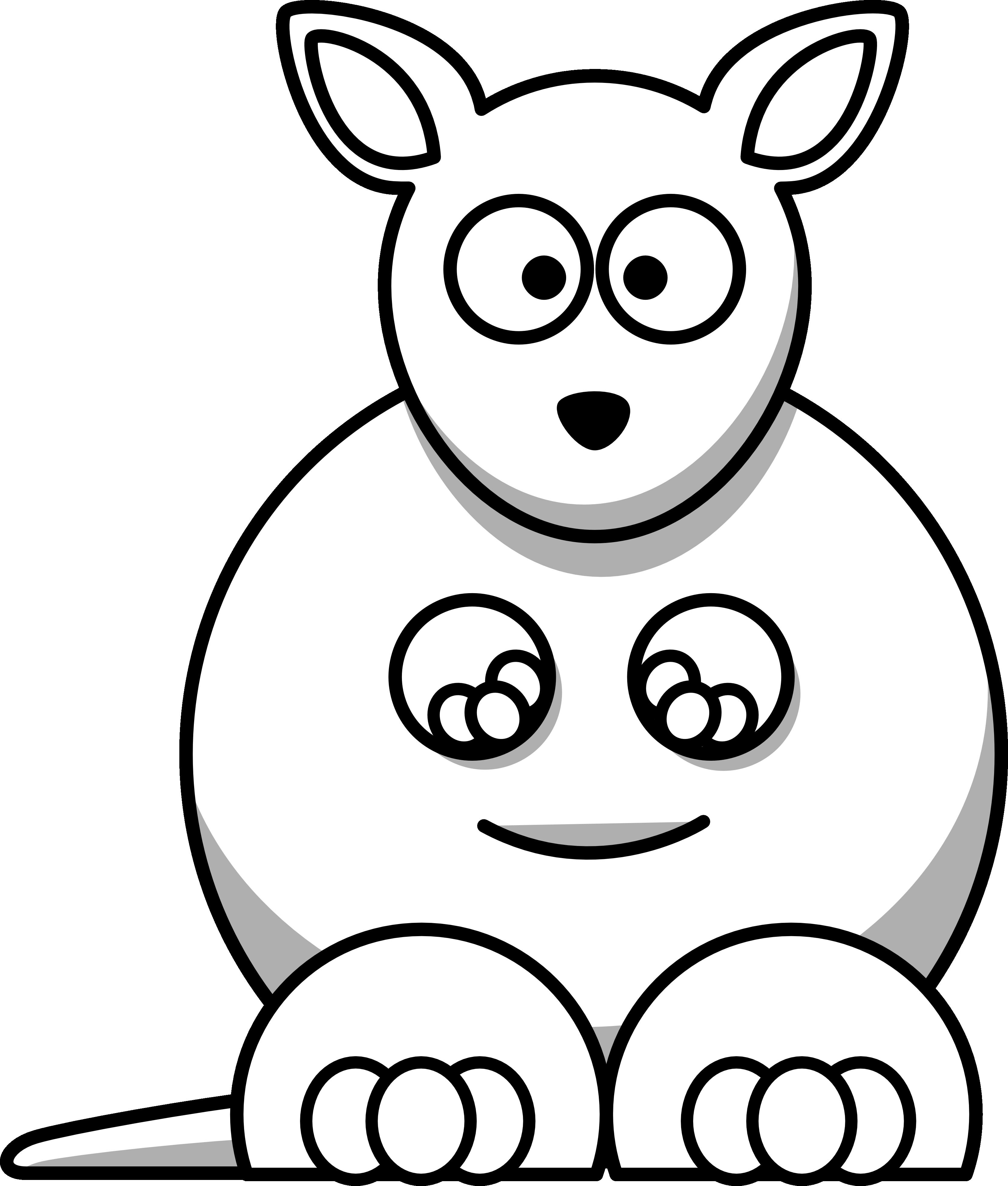 kangaroo%20clipart%20black%20and%20white
