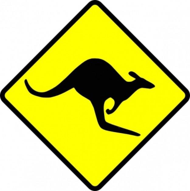 caution kangaroo clip art clipart panda free clipart images rh clipartpanda com kangaroo clipart outline kangaroo clip art free download