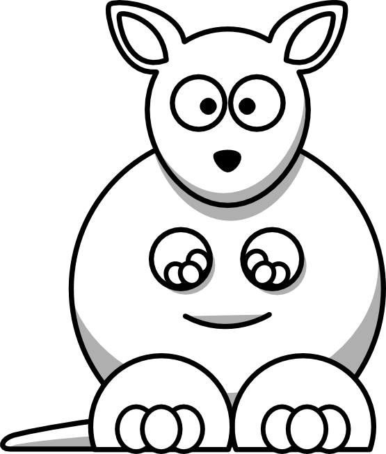 Kangaroo Clipart Clipart Panda