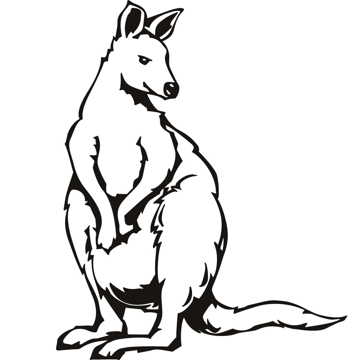 Kangaroo Coloring Pages Clipart Panda Free Clipart Images