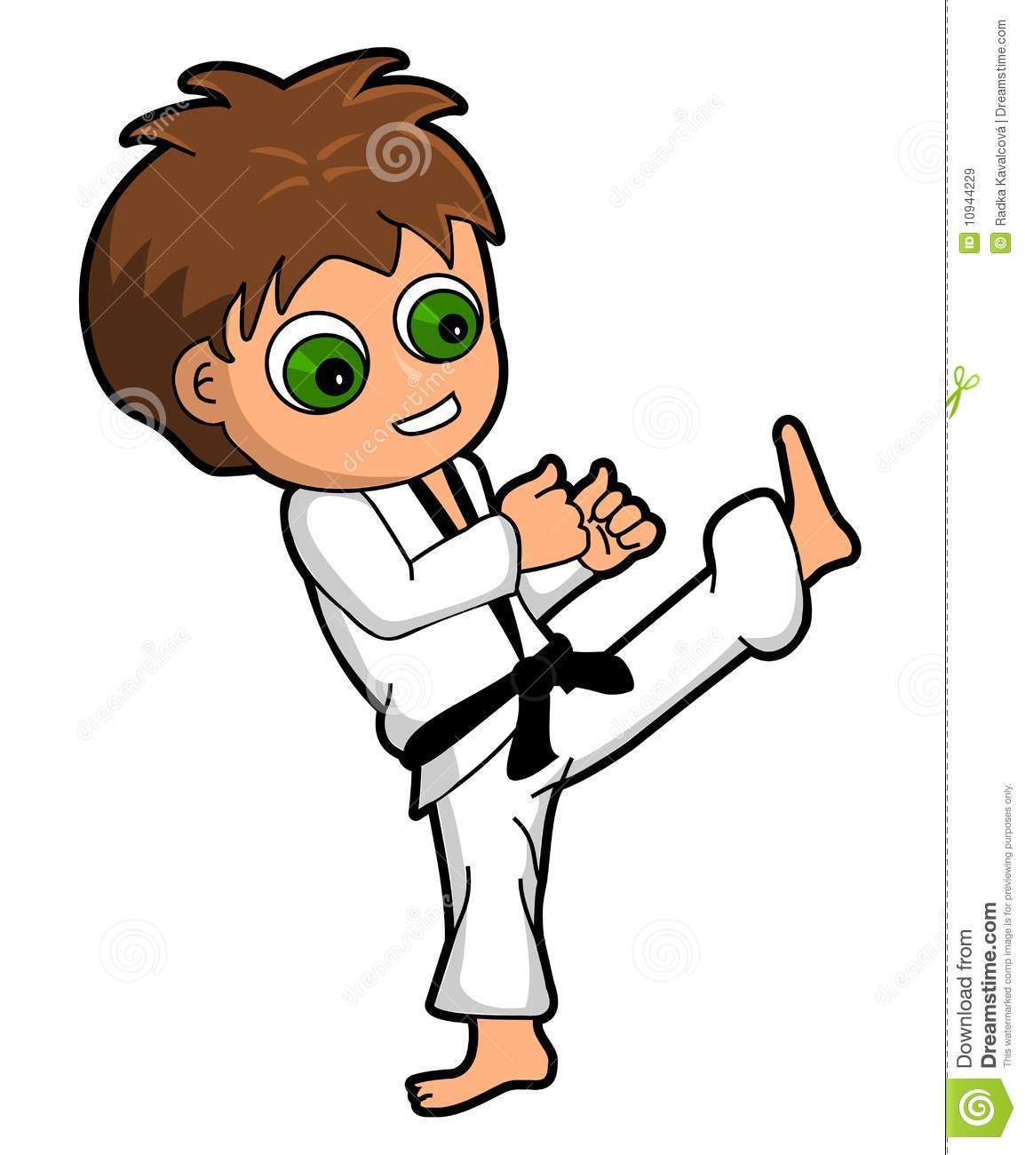 Karate boy clipart
