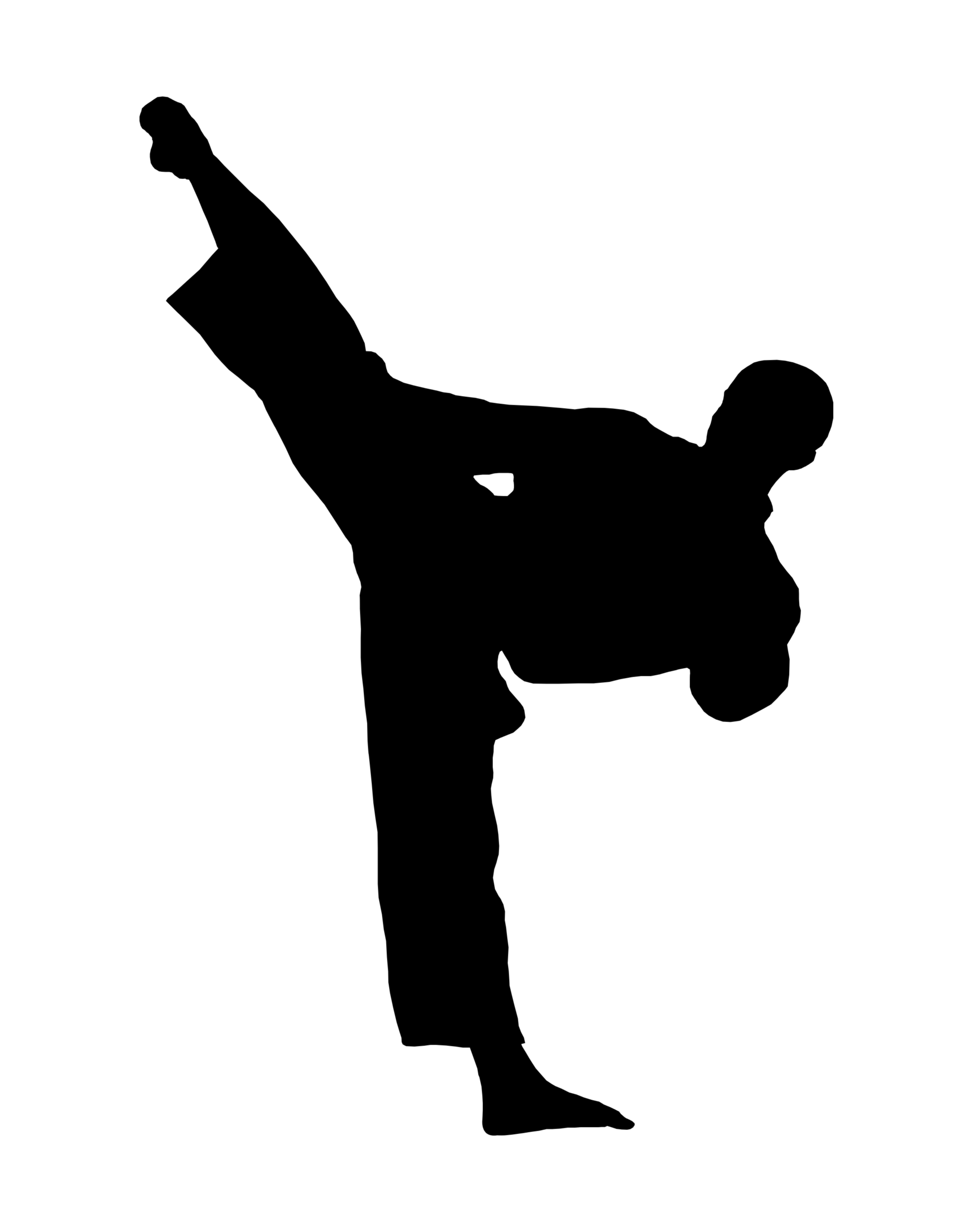 Karate Kick Clipart | Clipart Panda - Free Clipart Images