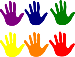 Clip Art Clipart Hands colorful hands clipart panda free images