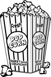 popcorn clipart black and white clipart panda free