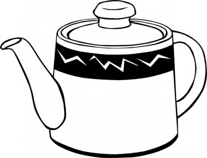 Clay Pot Clipart Black And White - More information