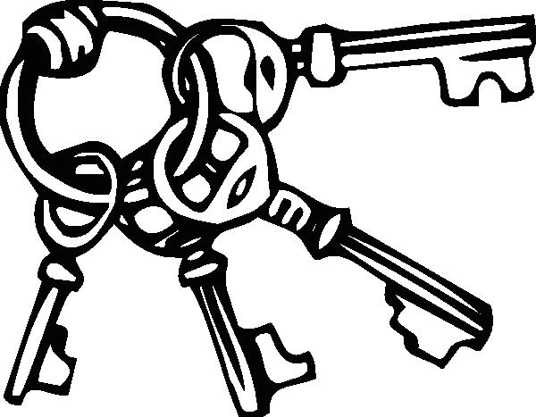 Black Key Ring Clip Art