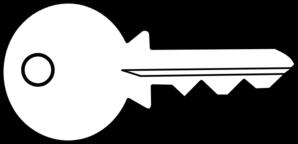 Key clip art - vector clip art