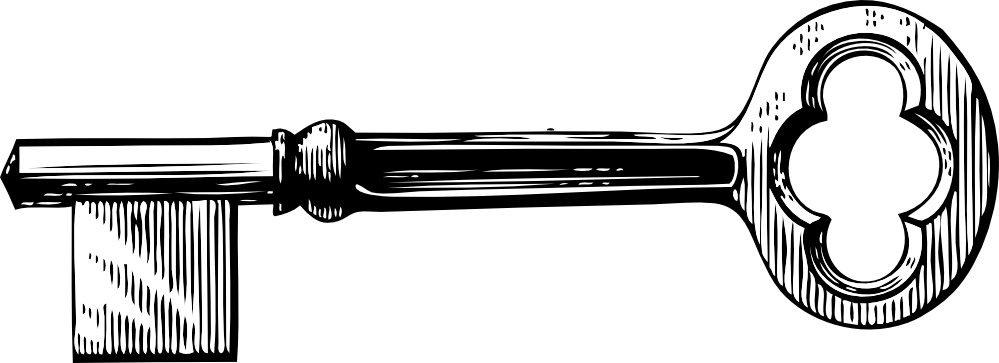 Line Drawing Key : Key clipart black and white panda free