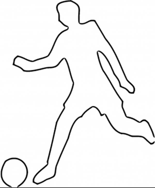 Kicking Soccer Ball Silhouette Clipart Panda Free