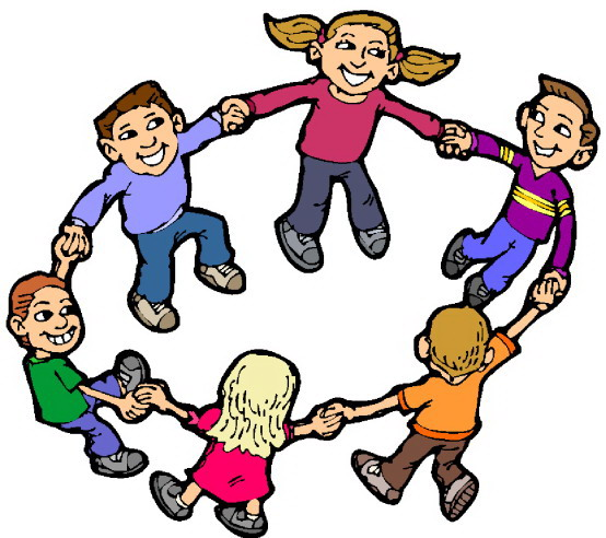 Kids Playing Summer Clipart