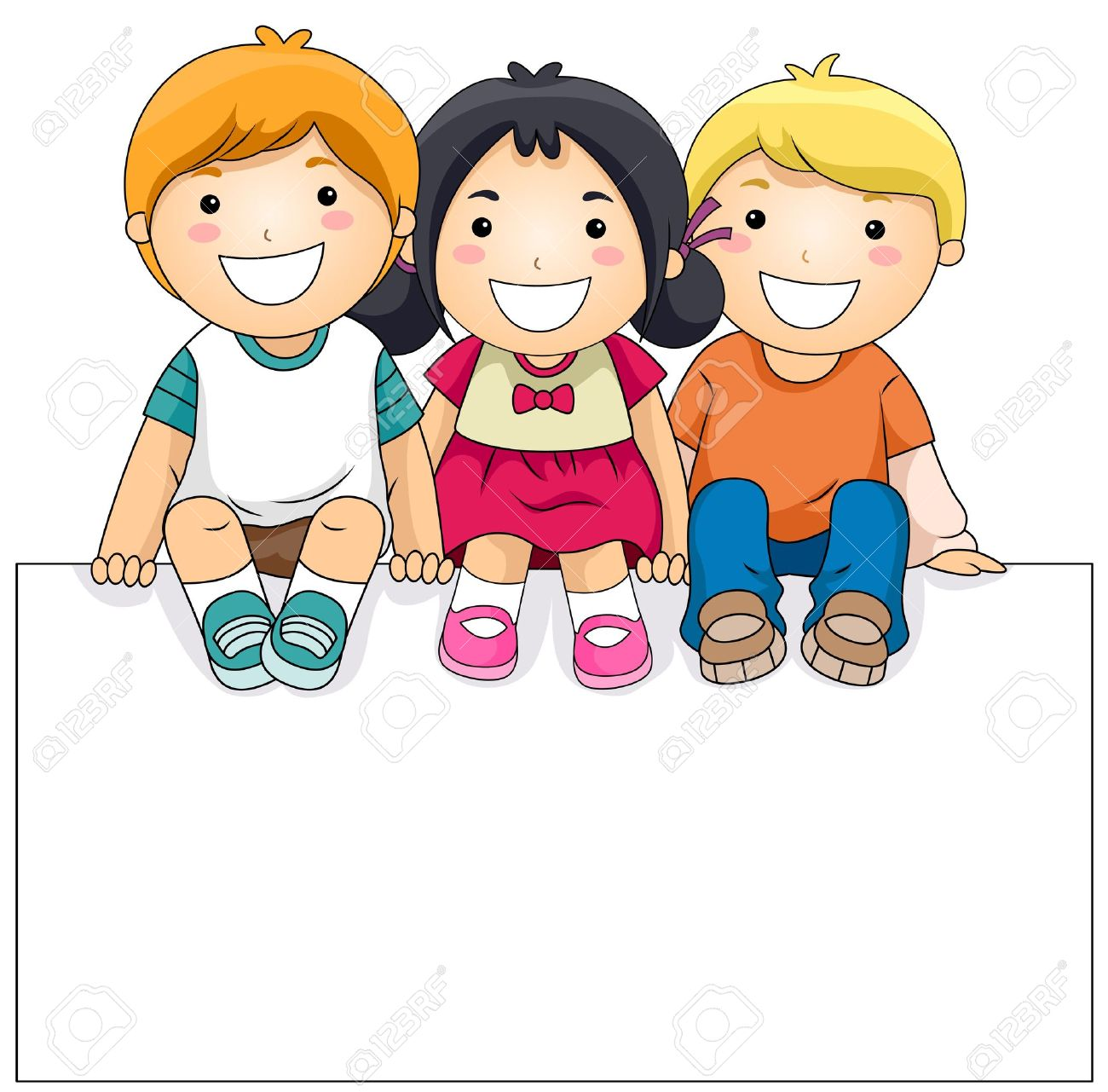 children clipart kids with a clipart panda free
