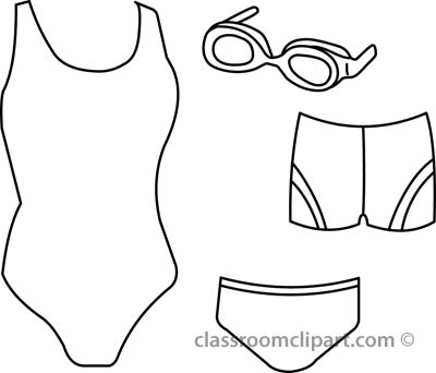 Kid Swimming Clipart Black And White