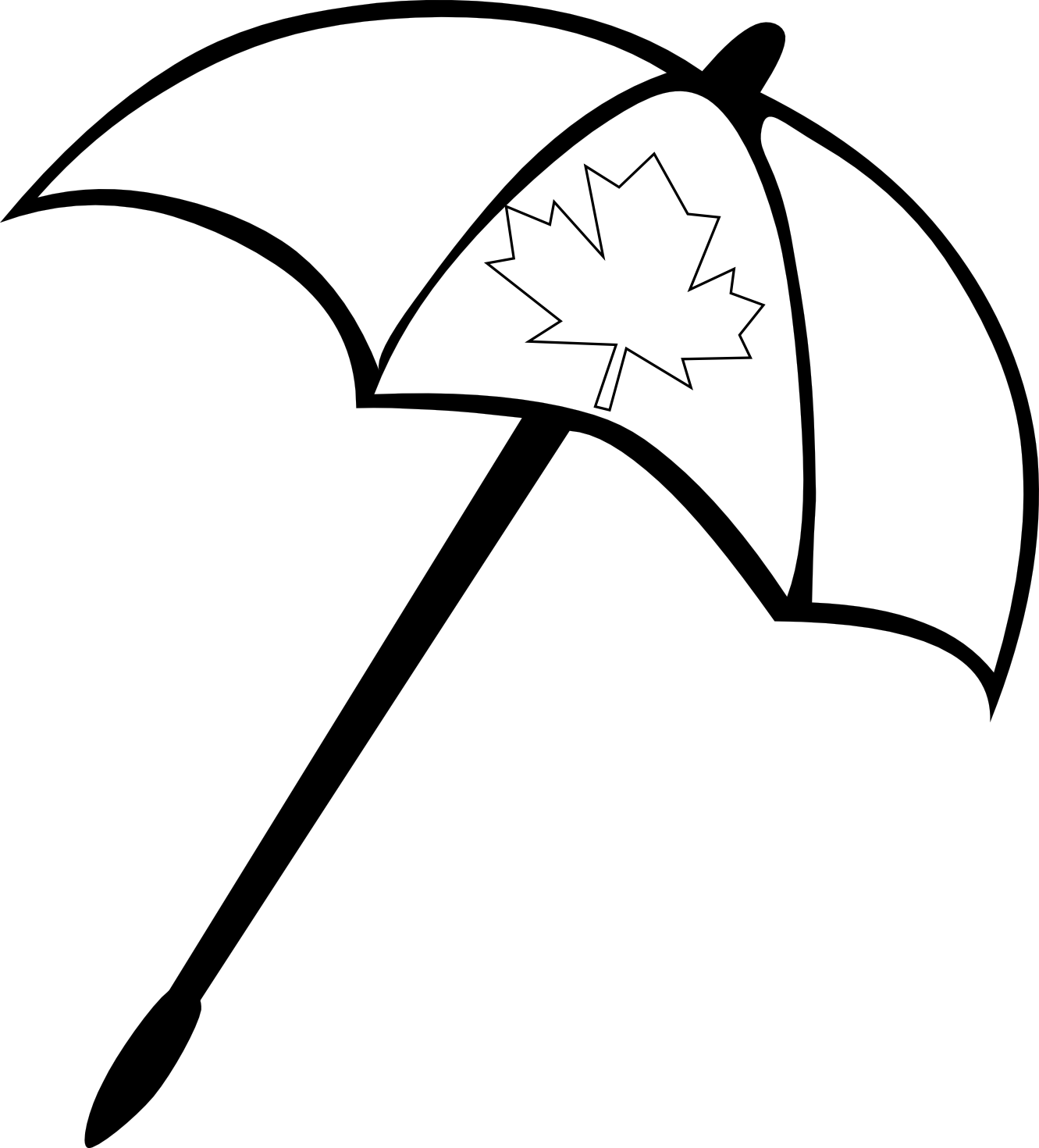 Line Art Umbrella : Beach umbrella black and white clipart