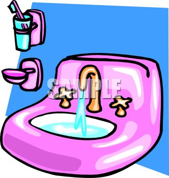 Kids Cleaning Bathroom Clipart 0511 0901 0516 2150 Bathroom Sink With
