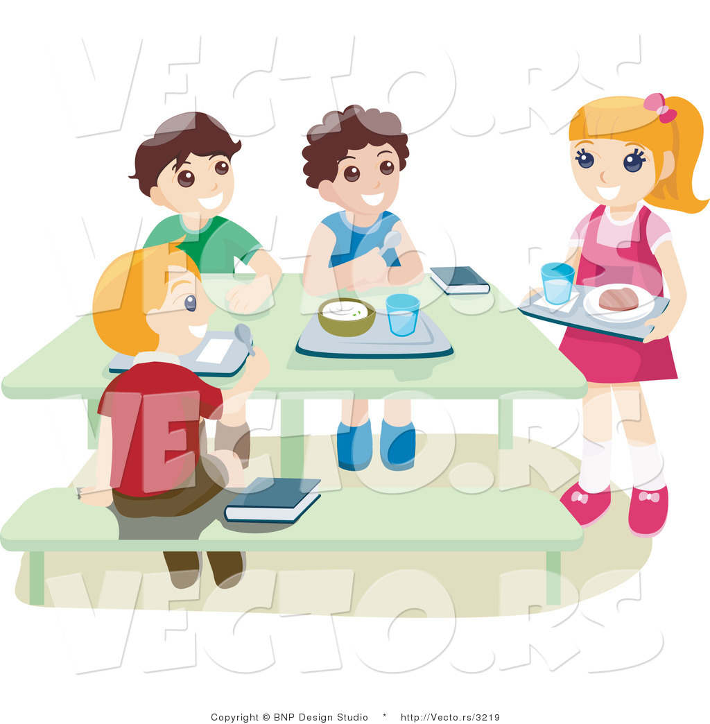 kids-eating-lunch-clipart-vector-of-school-kids-eating-hot-lunch-in-a    Kids Eating Breakfast At School Clipart