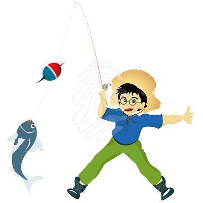 Kids Fishing Clipart |...