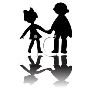 Children Holding Hands Clipart Black And White | Clipart ...
