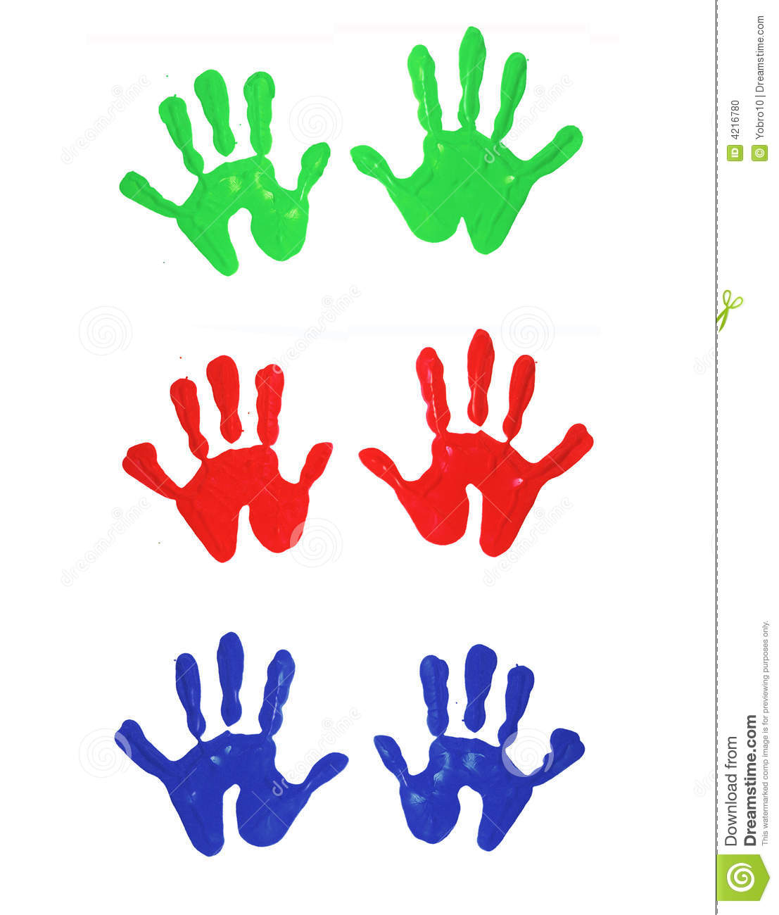 Excellent hand print vector photos