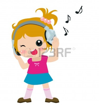 Girl Listening to Music Clip Art – Cliparts