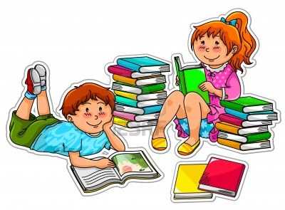 Image result for kids reading clipart images