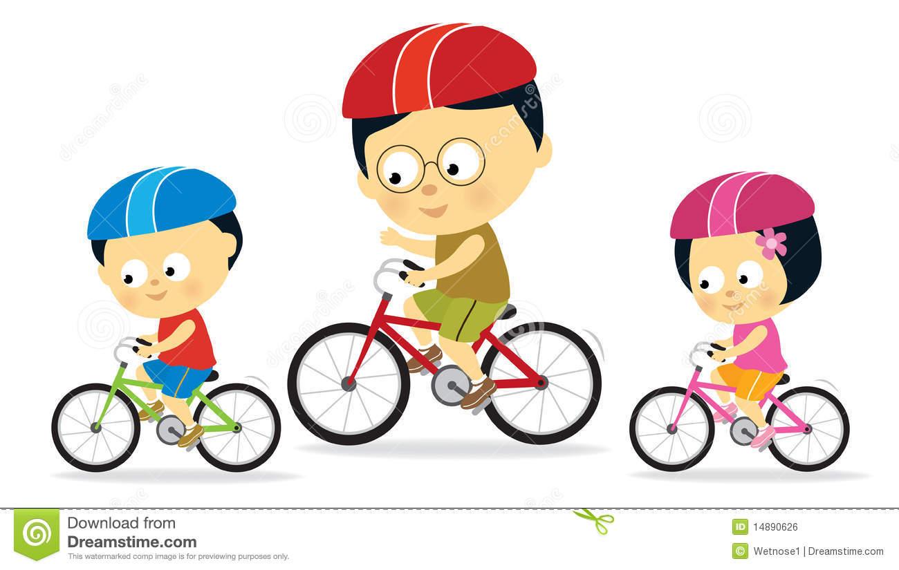 Child Riding A Bike Clipartmanunez