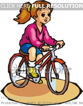 Kids Riding Bikes Clipart 3540