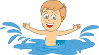 Image result for child swimming clip art