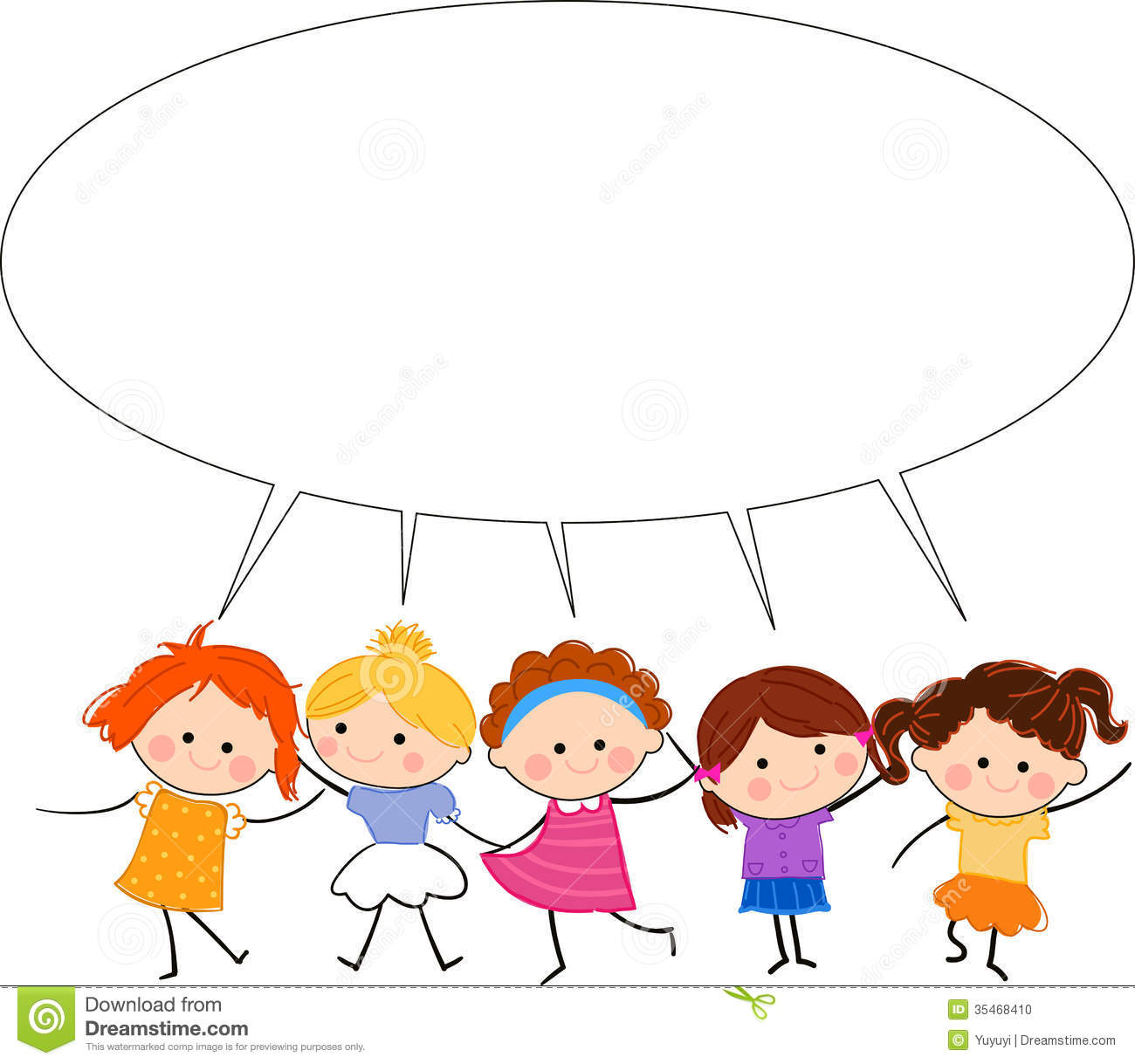 Group Of Kids Talking Clipart | Clipart Panda - Free ...