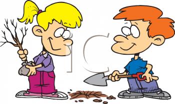 Kids vegetable garden clipart 0511 0811 0415 3738 cartoon of kids