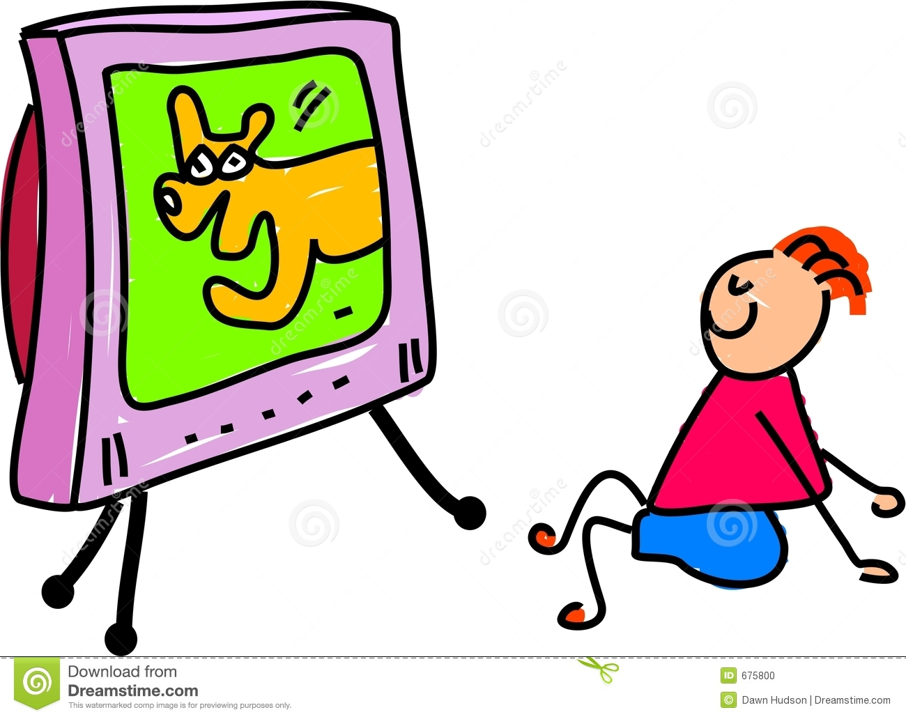 Download image Kids Watching Tv Clip Art PC, Android, iPhone and iPad