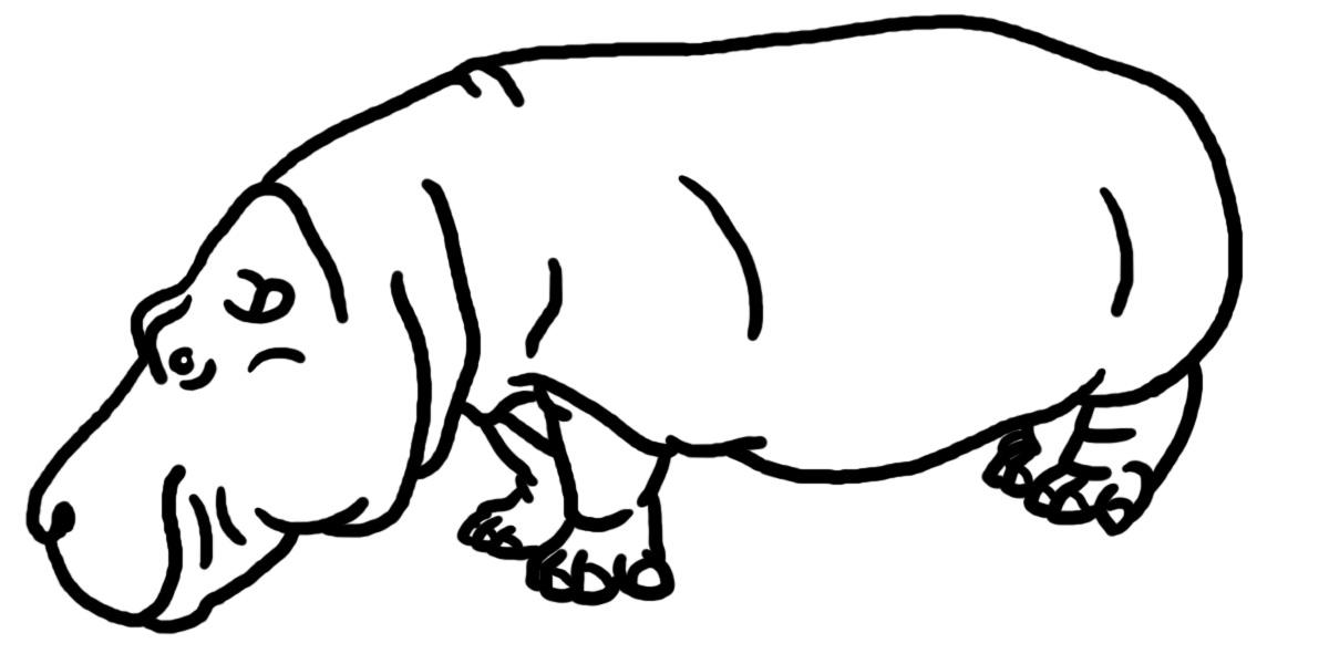 Clip Art  Hippopotamus B amp WBaby Cheetah Clipart Black And White