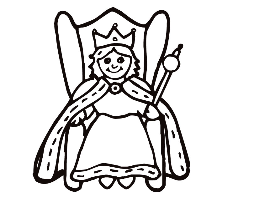 queen coloring pages - photo#2