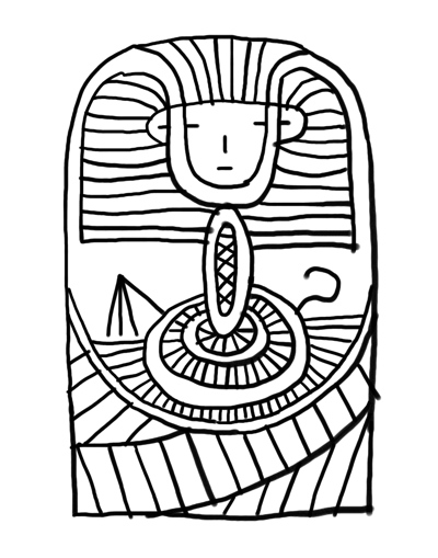 King Tut Coloring Page Queen Clipart Panda