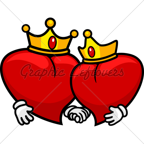 King And Queen Of HeartsQueen Of Hearts Crown Clip Art
