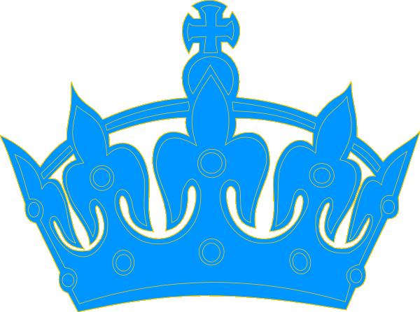 King crown clip art blue - photo#3