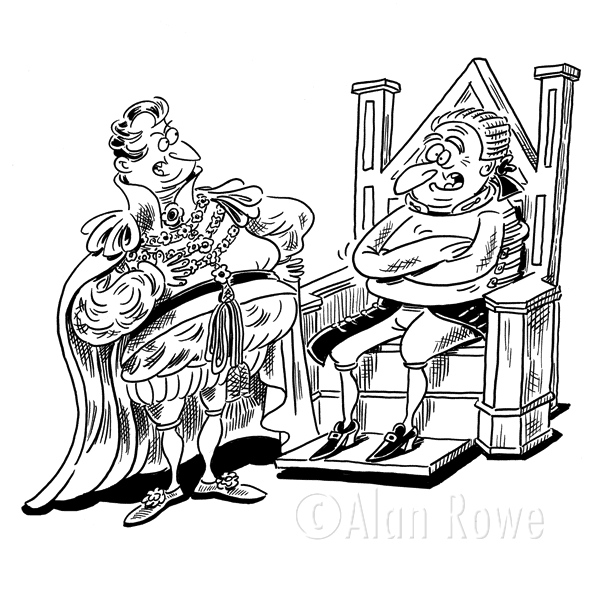 King Line Drawing King on Throne Pictures
