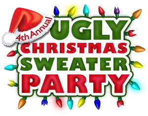Ugly christmas sweater contest. Party clipart panda free